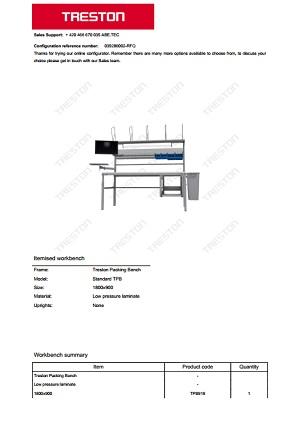 Konfigurace stolů Treston č. 2