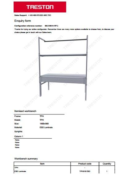 Konfigurace stolů Treston č. 3