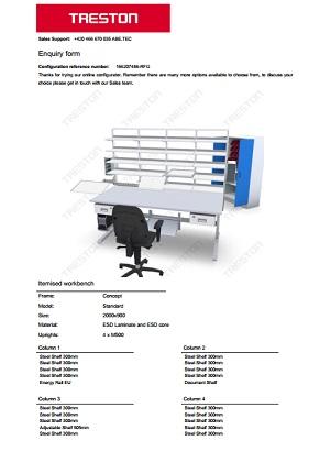 Konfigurace stolů Treston č. 6