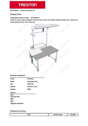 Konfigurace stolů Treston č. 8